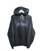 ARIES(アリーズ)の古着「プルオーバーパーカー」|ブラック