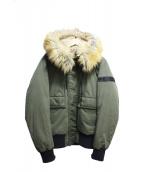 DIESEL(ディーゼル)の古着「フーディパフジャケット」|グリーン