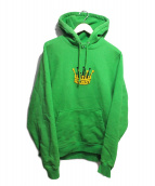 stussy(ステューシー)の古着「Chenille Crown Applique Hoodie」 グリーン