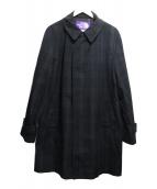 THE NORTHFACE PURPLELABEL(ザノースフェイスパープルレーベル)の古着「ブラックウォッチステンカラーコート」|ネイビー