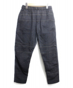 STEPHAN SCHNEIDER(ステファン・シュナイダー)の古着「ウールジャージー切替トラウザーパンツ」|ネイビー