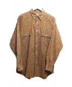 Christian Dior(クリスチャンディオール)の古着「ペイズリーシャツ」 ブラウン