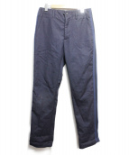 Engineered Garments(エンジニアドガーメンツ)の古着「サイドラインテーパードパンツ」|ネイビー