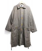 EASY TO WEAR(イージートゥウェアー)の古着「ステンカラーコート」|ブラウン