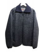 PRADA(プラダ)の古着「キルティングジャケット」|ネイビー