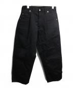 TUKI(ツキ)の古着「0082ワークパンツ」 ブラック