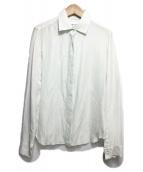 ()の古着「シルク比翼シャツブラウス」 ホワイト