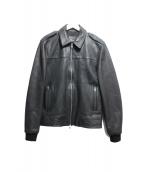 ALL SAINTS(オールセインツ)の古着「シングルレザージャケット」 ブラック