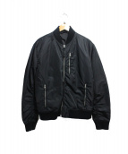 ALL SAINTS(オールセインツ)の古着「ジップアップジャケット」 ブラック