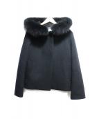 ef-de(エフデ)の古着「フーデットショートコート」 ブラック