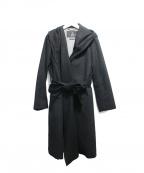 INED(イネド)の古着「カシミヤフーデッドコート」 ブラック