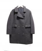 SOFIE DHOORE(ソフィードール)の古着「ダブルブレストコート」|グレー