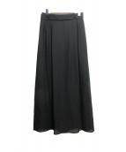 ADORE(アドーア)の古着「トリアセシフォン2枚スカート」|ブラック