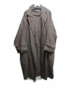 GALLEGO DESPORTES(ギャレゴデスポート)の古着「リネンコート」|ブラウン