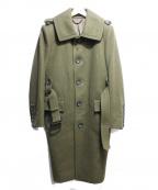 BURBERRY PRORSUM(バーバリープローサム)の古着「ウールスタンドカラーコート」|グリーン