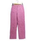 R.H.Vintage(ロンハーマンヴィンテージ)の古着「ハイウエストコーデュロイパンツ」 ピンク