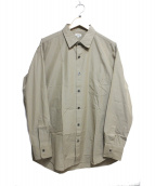 SCYE(サイ)の古着「160/3シャトルシャンブレー オーバーサイズド シャツ」 ブラウン