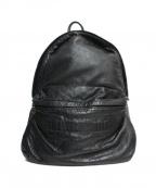 Jas-M.B.(ジャスエムビー)の古着「レザーリュック」 ブラック