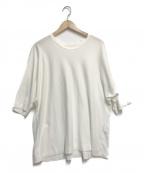 HOMME PLISSE ISSEY MIYAKE(オムプリッセイッセイミヤケ)の古着「クルーネックtシャツ」 ホワイト