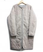 COLLAGE GALLARDAGALANTE(コラージュ ガリャルダガランテ)の古着「圧縮ウールキルトコート」|グレー