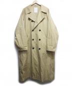 Mr.Gentleman(ミスタージェントルマン)の古着「BASIC TRENCH COAT」|ブラウン