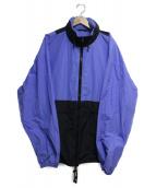 Martin Margiela 10(マルタンマルジェラ10)の古着「RIPSTOP HOODED BLOUSON」|ブルー×ブラック