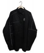 ADER error(アーダーエラー)の古着「Vaderay Oversized shirt」|ブラック