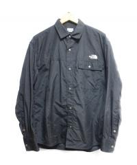 THE NORTH FACE(ザノースフェイス)の古着「L/S Nuptse Shirt」|ブラック