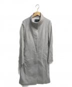 INDIVI(インディビ)の古着「ビーバースタンドカラーコート」 グレー