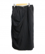 B Yohji Yamamoto(ビーヨウジヤマモト)の古着「シワギャバズカパン」 ブラック