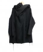 ALMOSTBLACK(オールモストブラック)の古着「WRAP COAT」 ブラック