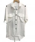 kiryuyrik(キリュウキリュウ)の古着「クロスモチーフ総柄S/Sシャツ」|ホワイト