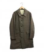 PHIGVEL MAKERS(フィグベルマーカーズ)の古着「ウールチェックダスターコート」|ブラウン