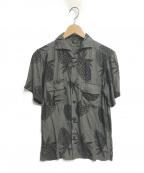 OLD JOE & Co.(オールドアンドジョー)の古着「パイナップル柄シャツ」|グリーン×ブラック
