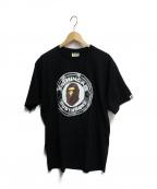 BAPE BY A BATHING APE(ベイプバイアベイシングエイプ)の古着「ロゴプリントTシャツ」|ブラック
