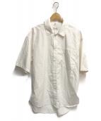 lownn(ローン)の古着「ワイドS/Sコットンシャツ」|ホワイト