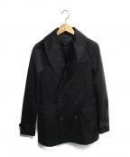 AKM(エイケイエム)の古着「ライナー付ショールカラーコート」 ブラック