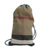BURBERRY PRORSUM(バーバリープローサム)の古着「ノヴァチェックショルダーバッグ」|グリーン