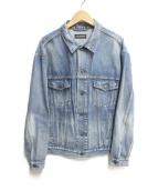 ()の古着「BBモード刺繍ロゴデニムジャケット」|ブルー