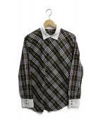 BURBERRY BLACK LABEL(バーバリーブラックレーベル)の古着「ノバチェックシャツ」|ブラウン
