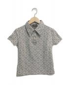 FENDI(フェンディ)の古着「ズッカ柄ポロシャツ」|ブラウン