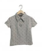 FENDI()の古着「ズッカ柄ポロシャツ」|ブラウン