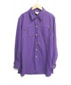 HERMES(エルメス)の古着「シャツジャケット」|パープル