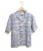 pataloha(パタロハ)の古着「オープンカラー半袖シャツ」|ブルー