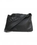 kawa-kawa(カワカワ)の古着「ビッグジップショルダーバッグ」|ブラック