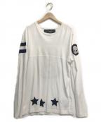 HYDROGEN(ハイドロゲン)の古着「パッチロングTシャツ」 ホワイト