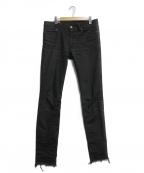 Rags McGREGOR(ラグス マクレガー)の古着「コーティングデニム」|ブラック