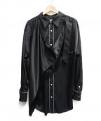 BED J.W. FORD(ベッドフォード)の古着「Fringe scarf shirt」|ブラック