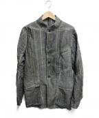 D.HYGEN(ディーハイゲン)の古着「Linen x rayon jacquard stripe」 ブラック