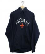 Noah(ノア)の古着「ロゴプルオーバーパーカー」 ネイビー